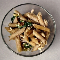 Penne Pasta Salad with Walnuts and Feta