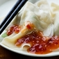 DELICIOUS DUMPLING WITH HOT DIPPING SAUCE