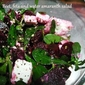 Beet, feta and water amaranth salad