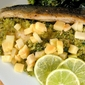 Trout With Apple, Lemongrass Gremolata And Riesling Butter Sauce Read more: http://www.somanyrecipes.com/2010/02/trout-with-apple-lemongrass-gremolata.html#ixzz0fxBqelRL