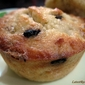 BANANA COCONUT MUFFINS WITH BLACK & WHITE CHOCOLATE CHIPS