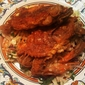 "Pan-fried Soft Shell Crab with ""Italian"" Coleslaw"