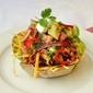 Low Fat Taco Salad with Chunky Avacado Tomato Salsa