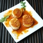 Pan Seared Scallops with Meyer Lemon Dust and Chipotle Beurre Blanc