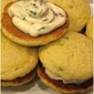 Jalapeño Cornbread Whoopie Pies with Savory Bacon Filling