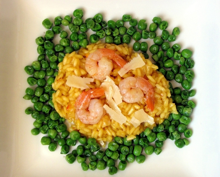 Parmesan risotto with spicy shrimp recipe by annie for Spicy prawn risotto