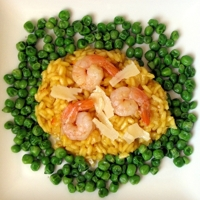 Parmesan Risotto with Spicy Shrimp
