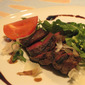 Beef Tagliata with Parmesan, Rocket and Vincotto sauce