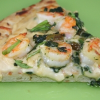 Image of Shrimp Alfredo Pizza Recipe, Cook Eat Share