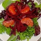 Raw Beet Salad with Raspberry Orange Vinaigrette