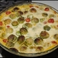 Brussels Sprout and Tomato Gratin