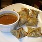 Ginger Shrimp Wontons with Spicy Peanut Sauce