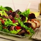lamb, raspberries, pecans and avocado salad