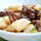 International Gnocchi Party: Braised Beef Short Ribs Adobo on Potato Gnocchi