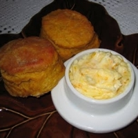Image of Pumpkin Angel Biscuits With Orange Honey Butter Recipe, Cook Eat Share