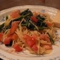 Creamy, Creamy Mushroom and Spinach Fettucini