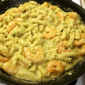 Shrimp and Pasta Pesto Alfredo