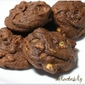 Chocolate Espresso Cookies with Banana and Walnut