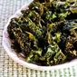 Recipe for Roasted Kale Chips with Sea Salt and Vinegar