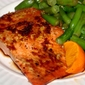 Sweet Soy and Brown Sugar Glazed Salmon with Sesame Green Beans