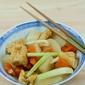 Stewed Beancurd Puffs with Daikon & Carrot