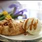 Apple galettes with Vanilla bean goat's milk ice cream and Blue Heron Farm cajeta