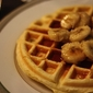 Buttermilk Waffles with Suateed Bananas