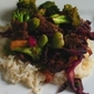 Broad Bean, Broccoli and Red Cabbage Stir Fry