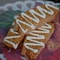 Pumpkin Biscotti with White Chocolate Drizzle