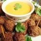 Thai Beef Meatballs with Peanut Dipping Sauce