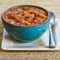 Navy Bean and Refried Bean Stew Recipe with Ham, Leeks, and Tomatoes