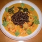 Mango Curry Cream Sauce Prawns and Scallops with Wild Rice
