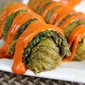 Meatless Monday: Enlightened Braised Cabbage Rolls Recipe with Roasted Red Pepper Finishing Sauce