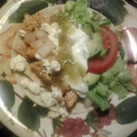 Chicken and Feta Taco's with Balsalmic drenched Onions