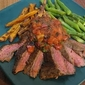 Chili-Rubbed Steaks and Pan Salsa