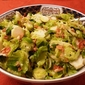 Warm Brussles Sprouts Salad with Almonds and Parmesan