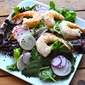 Easter Egg Salad with Shrimp and Sesame Ginger Dressing