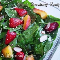 Spinach Strawberry & Peach Salad