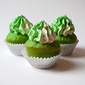 Lucky Green Velvet Cupcakes and Fluffy Buttercream Frosting