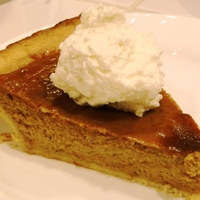 Easy pumpkin pies with brandy whipped cream