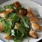 Chicken, Croutons, and Wilted Greens