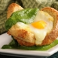 Meatless Monday: Green Eggs and No Ham – Recipe for Eggs in a Basket with a Budget-Friendly Spinach Pesto Sauce