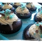 St Patties Chocolate Guinness Cupcakes with Minted Swiss Meringue Buttercream