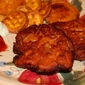 Fish Cakes with sweet potato chips