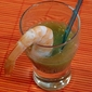 Mock Summer Shrimp Cocktail & Tomatillo Gazpacho Shooters