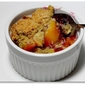 Blackberry Peach Cornmeal Cobbler