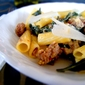 Pasta with Kale, Sausage & Cream