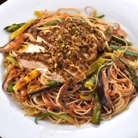Image of Pistachio Crusted Chicken Breasts With Coconut Curry Sauce Recipe, Cook Eat Share