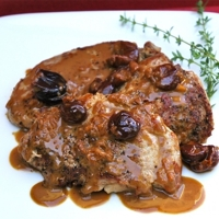 Pork Tenderloin Scallopine with Dried Cherry Sauce