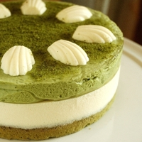 Matcha tea and mascarpone tart